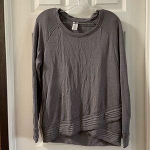 Active Life Grey Scoop Neck Pullover Sweatshirt M